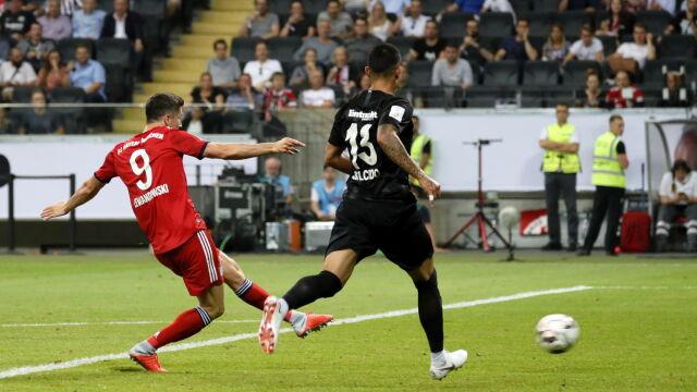 Lewandowski już szaleje. Tak wbił trzy gole w Superpucharze Niemiec