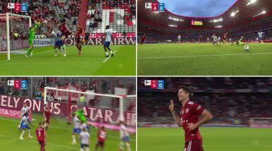 Robert Lewandowski i jego gole w meczu z Herthą Berlin