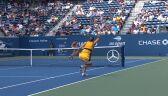 Świetna wymiana wygrana przez Halep w starciu z Rybakiną w US Open