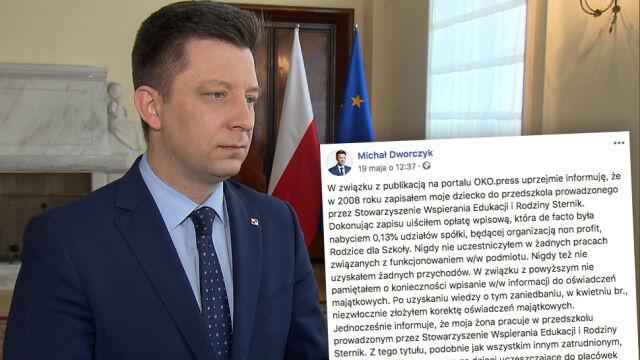 OKO.press: Dworczyk zataił udziały w spółce.  Szef KPRM wydał oświadczenie