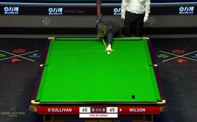 Dwa pudła Wilsona, O'Sullivan wygrał pierwszego frejma półfinału Welsh Open