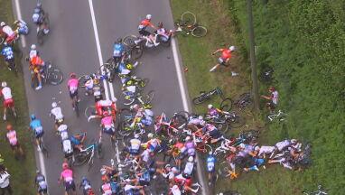 Jedna kraksa, później kolejna. Czarny dzień w Tour de France