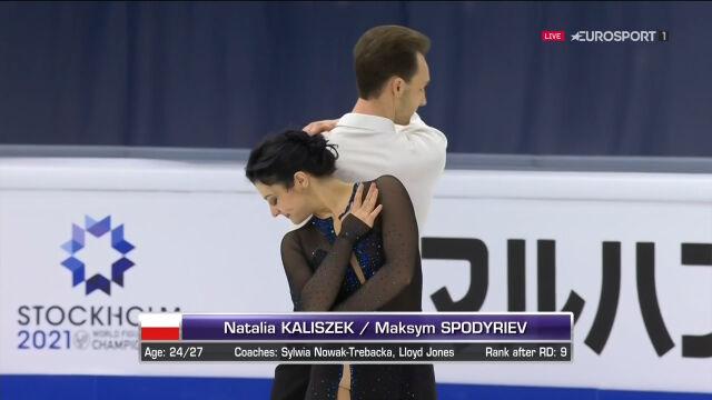 Cały występ Kaliszek i Spodyriewa w tańcu dowolnym w mistrzostwach świata