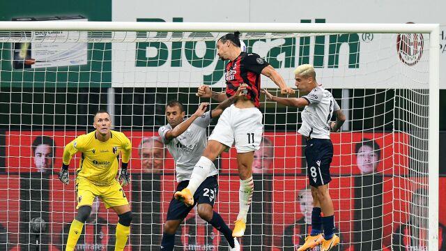 Pewna wygrana Milanu. Ibrahimović skutecznie nękał Skorupskiego