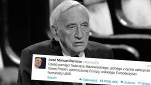 """""""Cześć pamięci Tadeusza Mazowieckiego"""". Barroso tweetuje po polsku"""