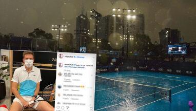 Najpierw zanieczyszczone powietrze, potem deszcz. Problemy z kwalifikacjami do Australian Open