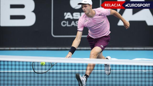 Rozpędzony Hurkacz gra o finał turnieju w Auckland. Rywal stawia trudne warunki