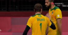 Tokio. Brazylia wygrała 1. seta w starciu z Rosyjskim Komitetem Olimpijskim w półfinale