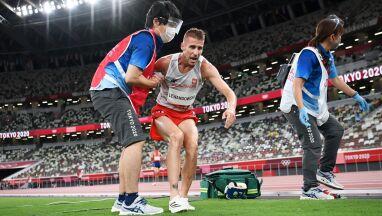 Lewandowski po nieudanym biegu.