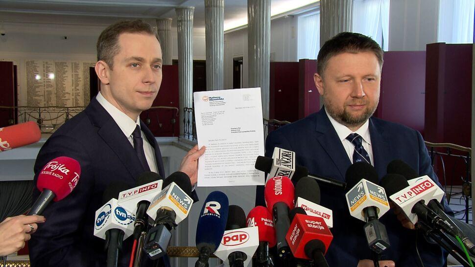 """Platforma wysyła wniosek do prezydenta.  Chce """"natychmiastowej dymisji"""" Szczerskiego"""