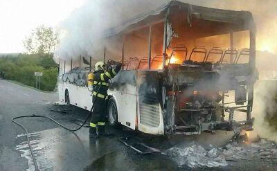 Pożar autobusu szkolnego na Słowacji. Kierowca ewakuował dzieci