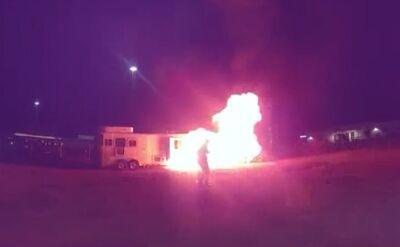 Wybuch furgonetki w Nowym Meksyku