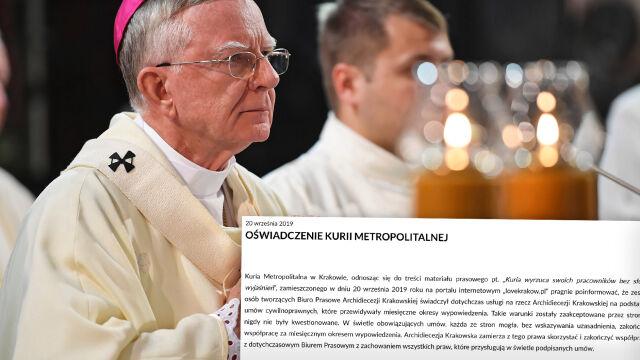 """Arcybiskup Jędraszewski rozwiązał biuro prasowe archidiecezji. """"Całkowicie zaskakująca informacja"""""""