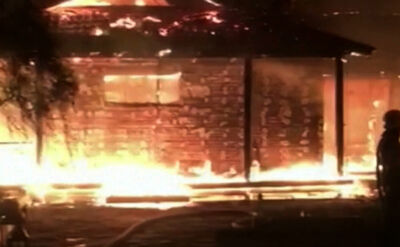 Pożar domu Walerii Hontariewej, byłej szefowej banku centralnego Ukrainy