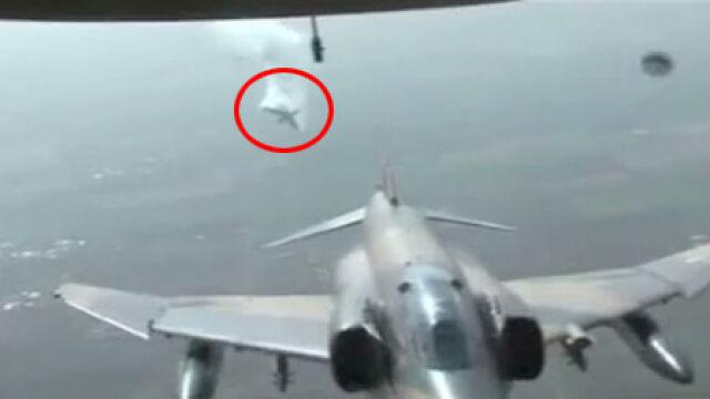 Katastrofa irańskiego AWACS-a nagrana z sąsiedniego samolotu