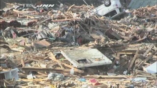 Miassto Kesennuma w prefekturze Miyagi zniszczone przez tsunami