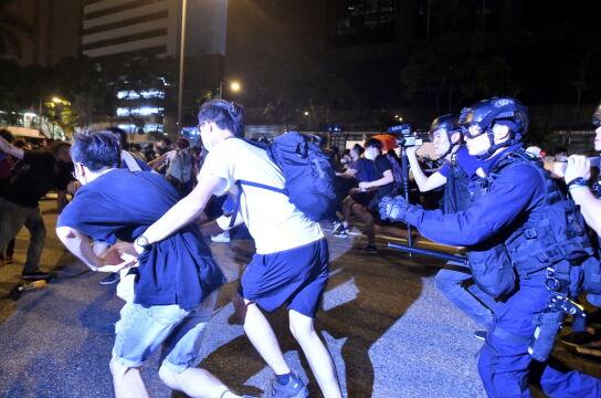 Zamieszki na ulicach Hongkongu