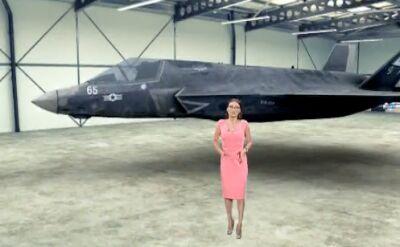 Trump: świętujemy zakup wielu myśliwców F-35. Wirtualne studio TVN24