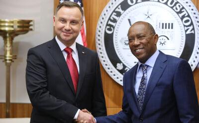 Prezydent Andrzej Duda spotkał się z burmistrzem Houston Sylvestrem Turnerem