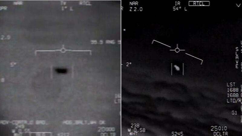Nagranie wojska USA mające przedstawiać UFO