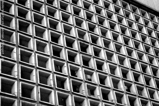Kasetony na budynku