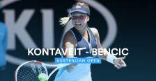 Skrót meczu Bencic - Kontaveit w 3. rundzie Australian Open