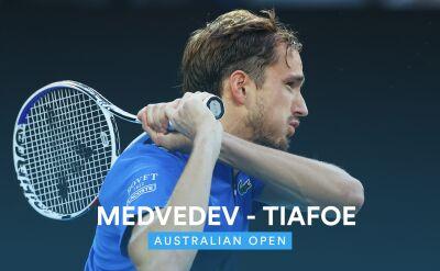 Skrót meczu Miedwiediew - Tiafoe w 1. rundzie Australian Open