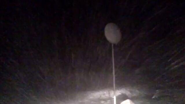 Śnieżyca na A2