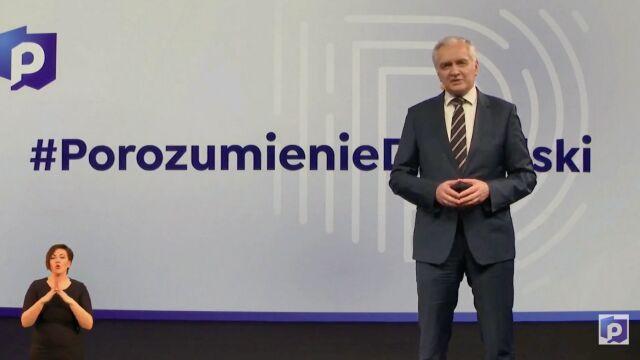 Jarosław Gowin na konwencji programowej Porozumienia