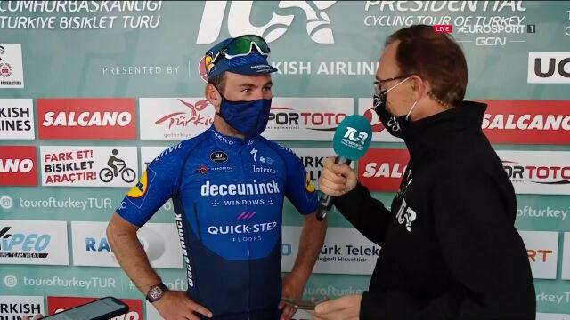 Cavendish po wygraniu 3. etapu Tour of Turkey
