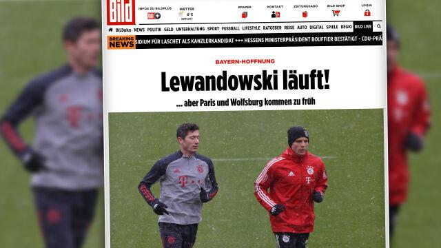 """Lewandowski powrócił. Pierwszy """"jogging w śniegu"""" po kontuzji"""