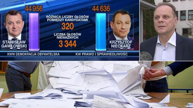 """""""Nie ma żadnych dowodów"""". Komisarz wyborczy  o wniosku PiS o powtórne liczenie głosów"""