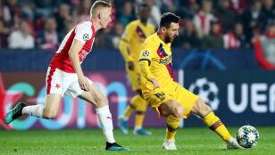 Slavia postawiła się Barcelonie w Pradze