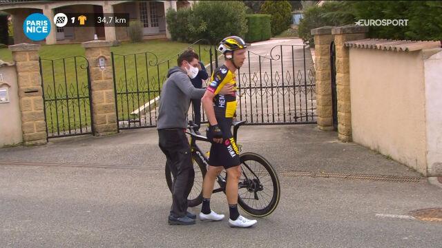 Upadek Martina na 5. etapie Paryż – Nicea. Niemiec wycofał się z wyścigu