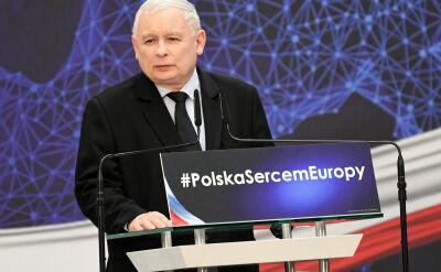 """Kaczyński: Zmieniamy """"piątkę PiS"""" w """"piątkę plus"""". Plus to wolność"""""""