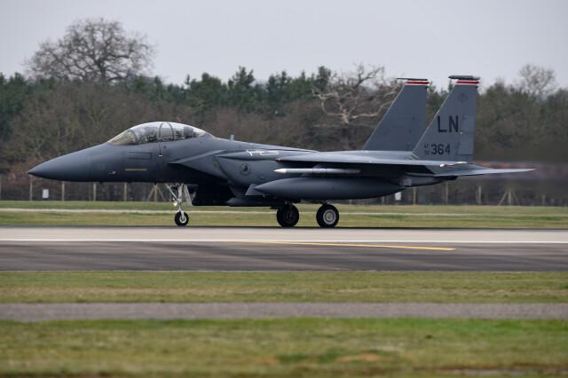 Amerykańskie F-15E Strike Eagle w Powidzu. Wspólne ćwiczenia z polskim lotnictwem