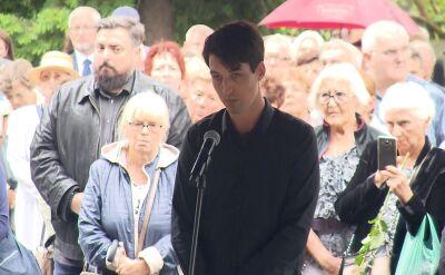 Syn Grzegorza Miecugowa podziękował obecnym za przybycie