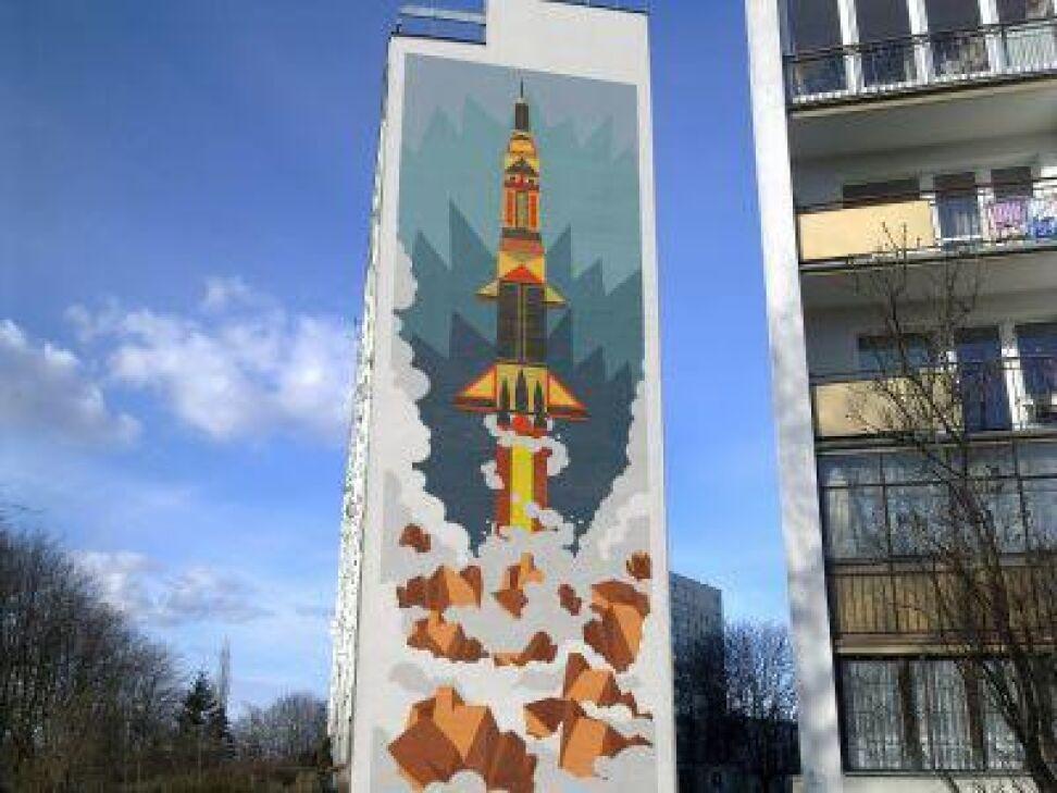 Tak będzie wyglądał blok 18a za kilka dni (projekt szwedzkich artystów z agencji Wallride)