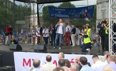 """Przemówienie Jarosława Marciniaka z koalicji """"Wolność, Równość, Demokracja"""""""
