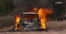 Samochód Lappiego stanął w płomieniach podczas Rajdu Meksyku