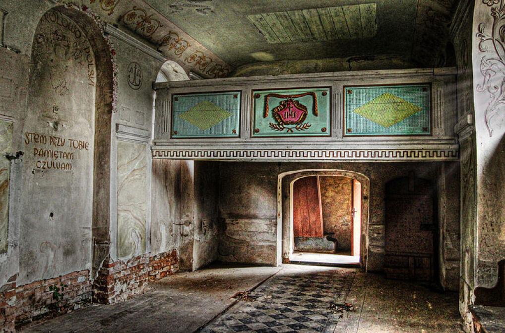 Wnętrze kościoła we Wróblinie Głogowskim