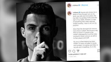 Ronaldo oburzony.