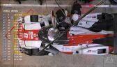Postój Toyoty z numerem 8 w alei serwisowej podczas wyścigu 24h Le Mans