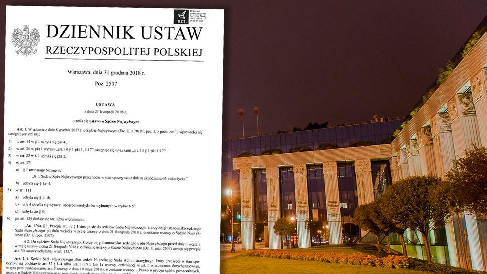 Nowelizacja ustawy o Sądzie Najwyższym opublikowana