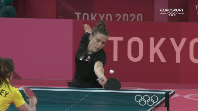 Tokio. Partyka wygrała 2. seta z Bromley w tenisie stołowym kobiet