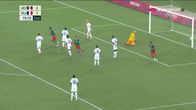 Tokio. Piłka nożna mężczyzn. Meksyk - Francja 3:1  (gol Carlos Antuna)