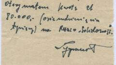 """RKS dużo kwoty przeznaczał na budowę Radia """"Solidarność"""" – podpisany na pokwitowaniu Zygmunt, to nieżyjący już Zygmunt Wojtasik"""