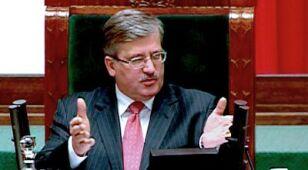 Komorowski odwołał konferencję z powodu Wałęsy