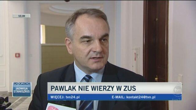 Pawlak: Nie liczmy tylko na emerytury (TVN24)