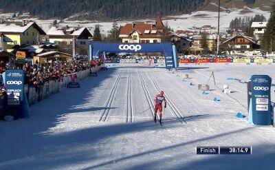 Bolszunow wygrał bieg pościgowy na 15 km w Toblach, Dominik Bury 21.